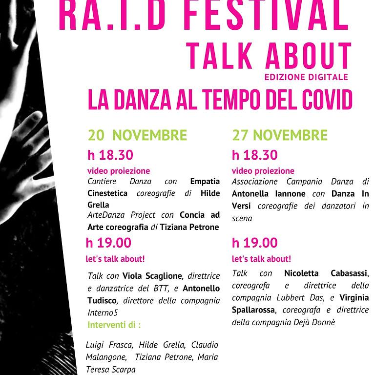 Ra.I.D. Festival Talk About edizione digitale 20/27 novembre