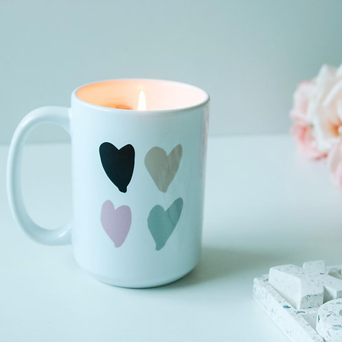 15oz Heart Mug Candle