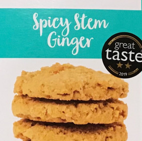 Spicy stem ginger cookies