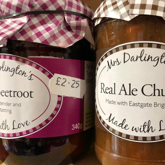 Mrs Darlington's pickles & chutneys