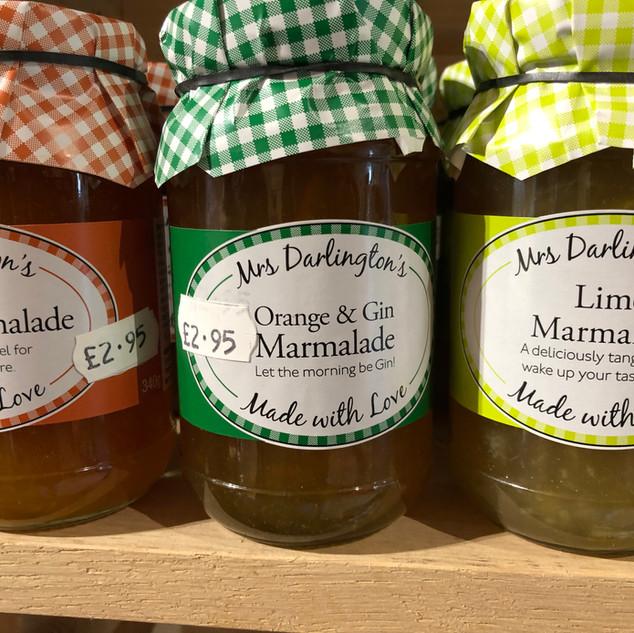 Mrs Darlington's marmalades