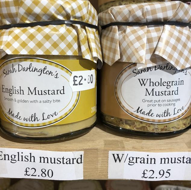 Mrs Darlington's mustards