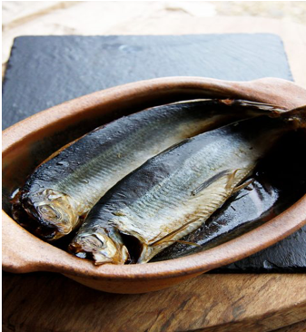Pair of smoked kippers