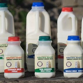 Bruton dairy organic milk