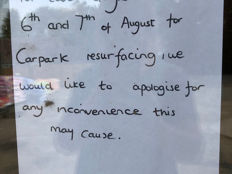 Closed for Re-surfacing 6th & 7th August