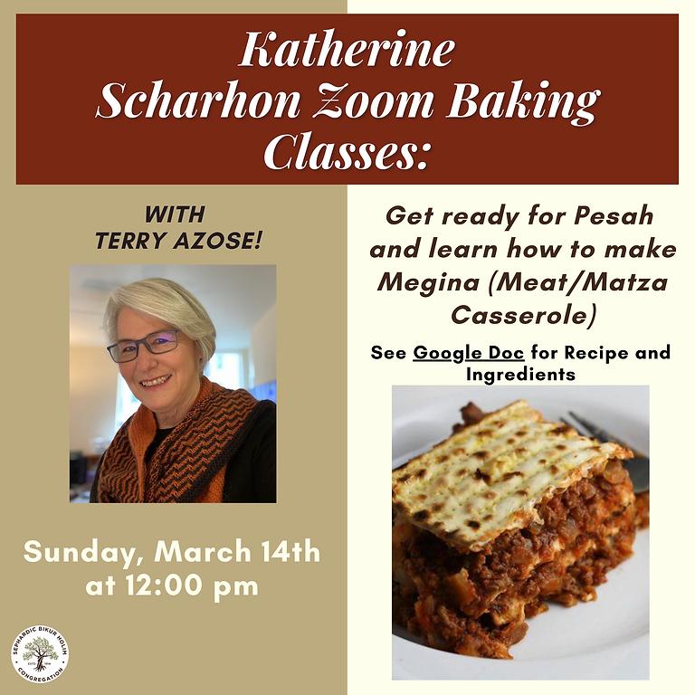 Katherine Zoom Baking Class: Megina (Meat/Matzah Casserole)