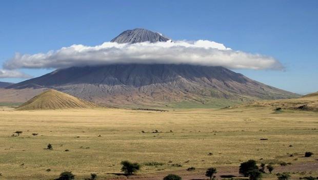Ol Doinyo Lengai, the Maasai name for Mountain of God, in East Africa.