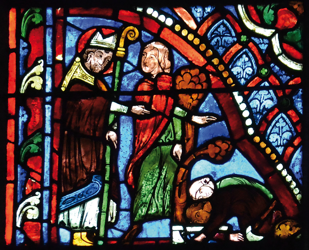Bourges, vitrail de saint Martin