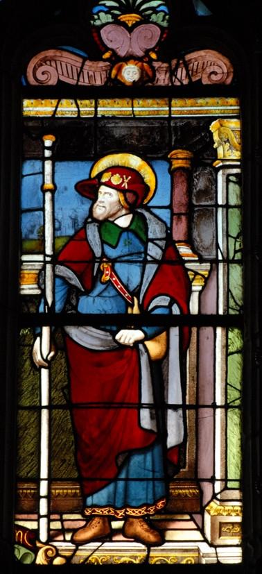 Saint Jacques le Majeur, verrière commandée par Jacques de Beaune pour l'église de Ballan-Miré (c) Centre François-Garnier