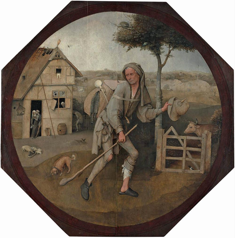 Jérôme Bosch, Le Vagabond, dit aussi le Fils prodigue - vers 1500-1510, Rotterdam, © Musée Boijmans Van Beuningen.