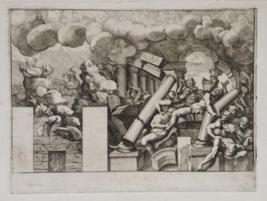 ANCIEN TESTAMENT : Samson renverse les colonnes du Temple de Dagon (Juges, 16,22-31)