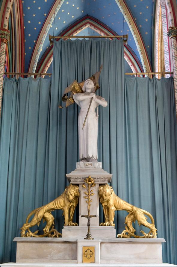 Autel de sainte Jeanne d'Arc à la cathédrale d'Orléans