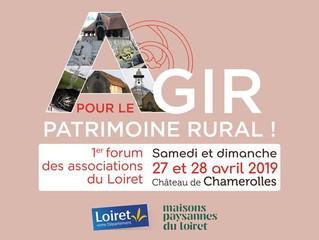Agir pour le patrimoine rural ! > 27-28 avril 2019