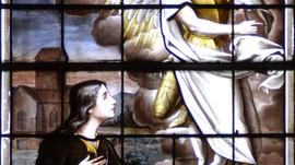 Jeanne d'Arc figure de vitrail en Centre-Val de Loire