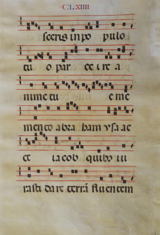 Folio manuscrit sur parchemin
