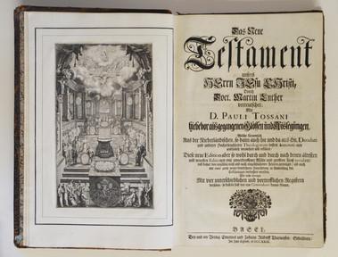 Le Nouveau Testament de Notre Seigneur Jésus Christ traduit en allemand par le Docteur Martin Luther