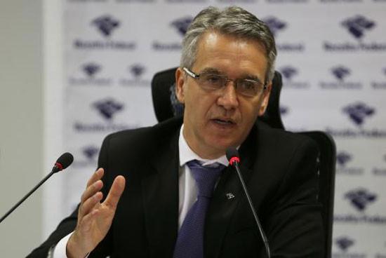 O Subsecretário de Fiscalização da Receita Federal, Iágaro Jung Martins, anunciou, em Brasília, o resultado de ações de fiscalização no primeiro semestre (Foto: José Cruz/Agência Brasil)