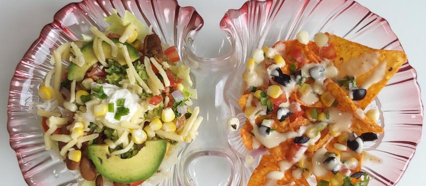 Burrito Bowl + Nachos & Cheese
