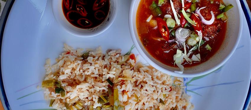 Veg Fried Rice & Manchurian