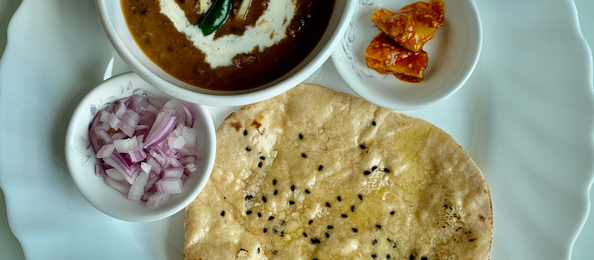 Dal Makhani & whole wheat garlic naan