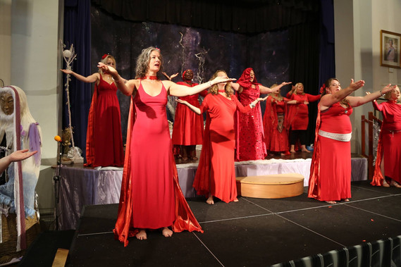 Opening the Glastonbury Goddess Conference with my fellow Priestesses of Rhiannon, August 2015