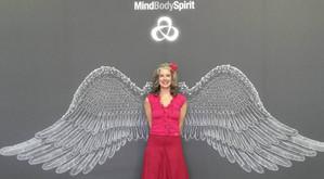 Presenting at the Mind, Body, Spirit Festival, London, 2016