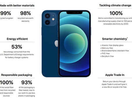 Apple Product Environmental Report -iPhone 12