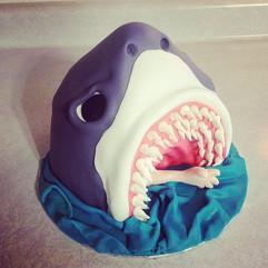 #Shark #Cake #Scultped #SculptedCake #Ha