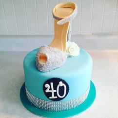 #CakeArt #Sculpted #Happy40th #HappyBirt