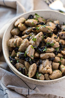 Easy Black Garlic Gnocchi with Brown Butter Sauce