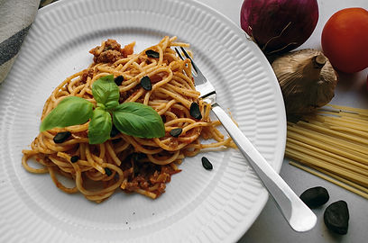 black garlic Bolognese