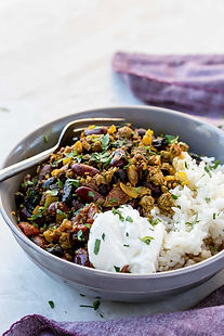 Healthy, comforting black garlic chilli con carne