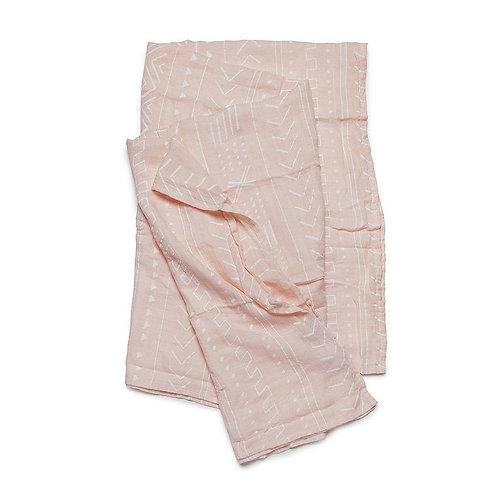 Loulou Lollipop: Pink Mudcloth Muslin Swaddle