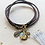 Thumbnail: One Thing Locket: Mermaid Scale Locket & Cork Wrap Bracelet/Necklace