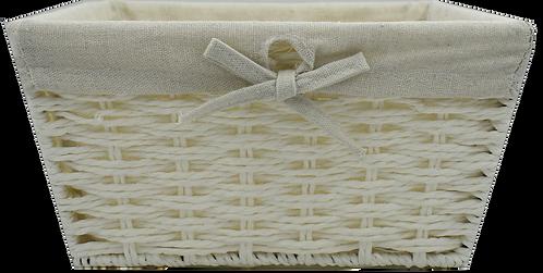 White Wicker Gift Basket (Small)