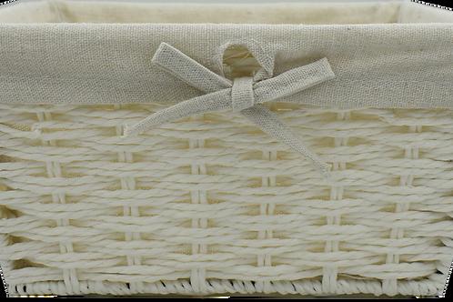 White Wicker Gift Basket