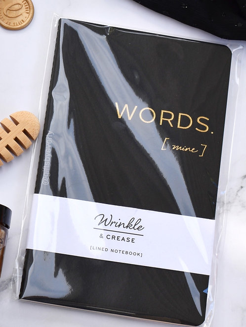 Wrinkle and Crease: Words (Mine) Notebook