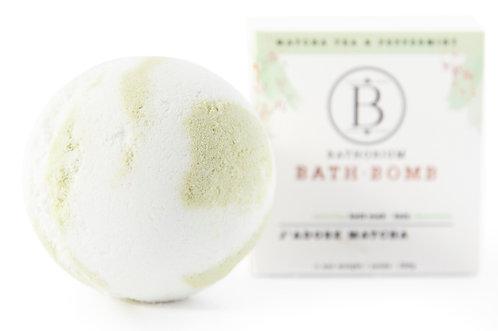 Bathorium: J'Adore Matcha Bath Bomb