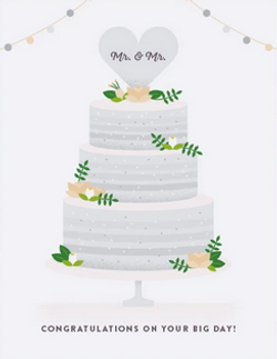 Wedding Congratulations Mr. & Mr.