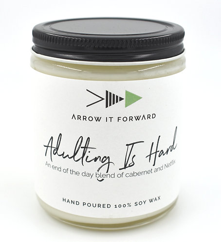 Arrow it Forward: Adulting is Hard Candle