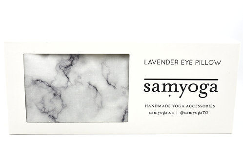 samyoga: Lavender Eye Pillow White Marble