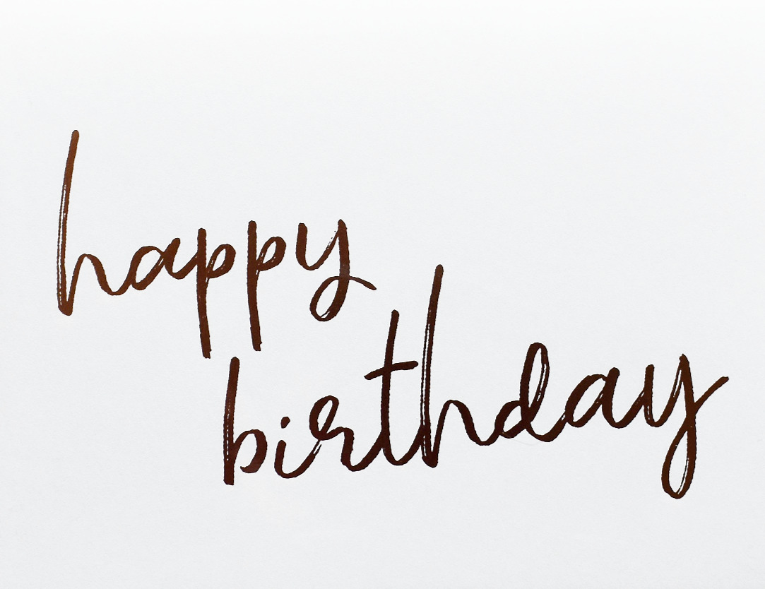 Happy Birthday (Rose Gold)