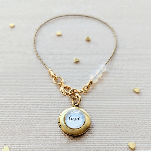 One Thing Locket: Just Love Locket Bracelet