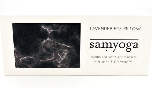 samyoga: Lavender Eye Pillow Black Marble