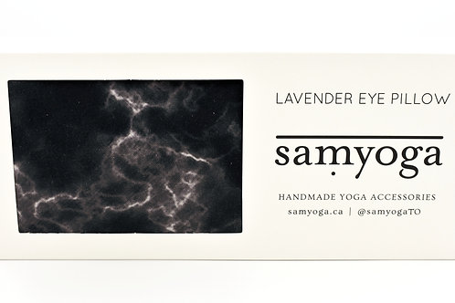 samyoga: Lavender Eye Pillow Black Marble
