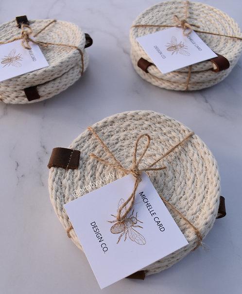 MCDC: Woven Cotton Rope Coaster Set