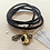 Thumbnail: One Thing Locket: Raven Heart Locket & Cork Wrap Bracelet/Necklace (Vegan)