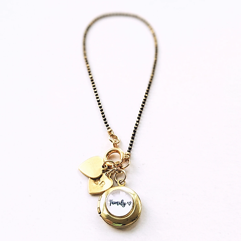 One Thing Locket: Family Locket Charm Bracelet