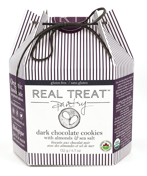 Dark Chocolate Cookies w/ Almonds & Sea Salt