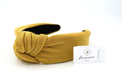 Femme Faire: Textured Knitted Headband Saffron